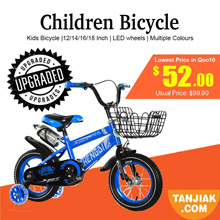 Kids Bicycle | Free Upgrades | 4 Wheels Bicycle | LED Wheels | SG Stock