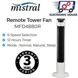 ★ Mistral MFD4880R Remote Tower Fan ★ (3 Year Warranty on Fan Motor)