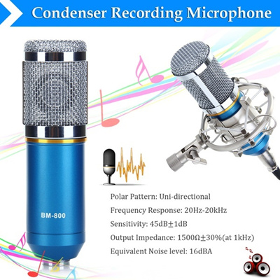 BM-800 Condenser Microphone Recording Mic with Shock Mount