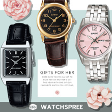 GIFTS FOR HER! CASIO Leather N Stainless Steel Watches. Free Shipping!