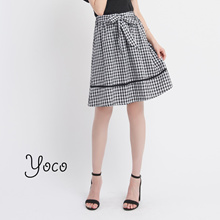 YOCO - Checkered Print Skirt-171206