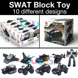 SWAT Assembly Blocks l SWAT Police Block Toy I Children Toy l Birthday Party l Goodie Bag l Gift