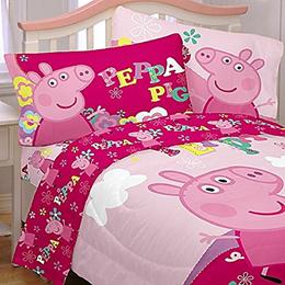 Peppa Pig 3 Piece Twin bed sheet set Microfiber