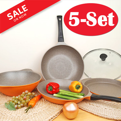 Qoo10 frying pan 5 set kitchen dining for Qoo10 kitchen set