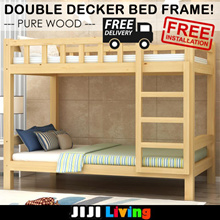 Double Decker Bed Frame! Pure Pine Wood! Storage | Drawers ★Mattress ★Furniture