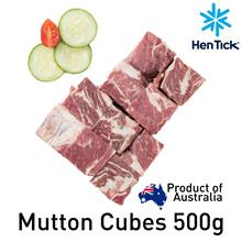 [Hen Tick] MUTTON CUBES [500g] [hego] [lamb] [meat] [frozen] [australia]