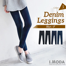 OB CLUB ★ IMODA ★ OBDESIGN ★ DENIM FLEECE LINING STRETCH SKINNY LEGGINGS★ S-XXXL ★ PLUS SIZE ★