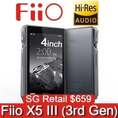 [Fiio] X5 (3rd Gen) -Portable Music Player / 32bit/384kHz / Lossless  MP3/MP4 / High-Resolution DAP