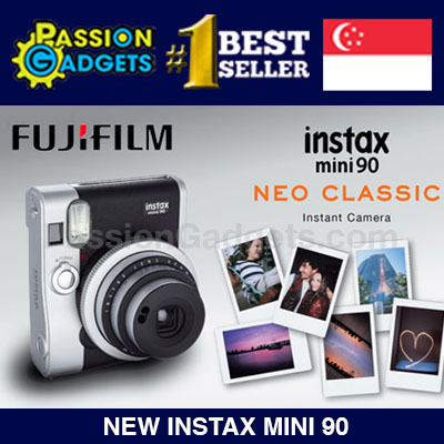 [Free Gifts!]?Instax Mini 90 Neo Classic?SG WARRANTY! New Vintage Brown! Instant Polaroid Camera Deals for only S$299 instead of S$0