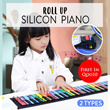 KONIX Colorful Roll Up Silicon Piano with Control Panel Speaker / More Cost Effective For Beginner!