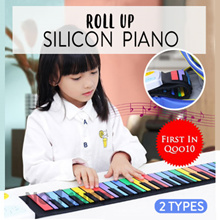 【FREE FAST SHIPPING】Silicon Flexible Roll Up Piano with Control Panel Speaker / More Cost Effective