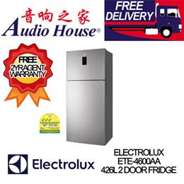 ELECTROLUX ETE-4600AA 426L 2 DOOR FRIDGE *** 2 YEARS ELECTROLUX WARRANTY *** FREE DELIVERY!! ***