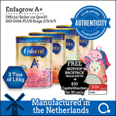 [Enfagrow A+] [3 TINS] Enfagrow/Enfamil Stage 2/3/4/5 1.8kg [OFFICIAL MADE IN THE NETHERLANDS]