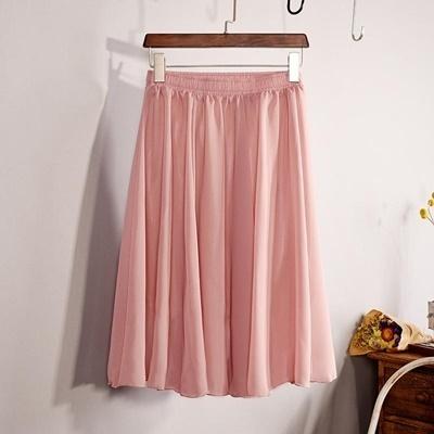 90bfc1298448a Qoo10 - midi chiffon skirt   Women s Clothing
