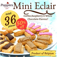 BUNDLE 3 - Poppies Mini Eclair (Coffee Raspberry or white chocolate)  - TOTAL 36PCS ECLAIR