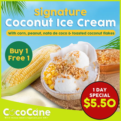 1-for-1 Signature Coconut Ice Cream [UP$11]