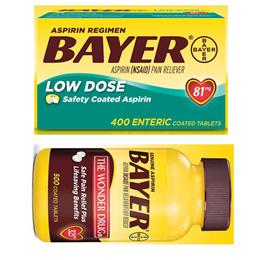 C/바이엘 아스피린 Bayer Aspirin 81 mg 2팩 325 mg 2팩