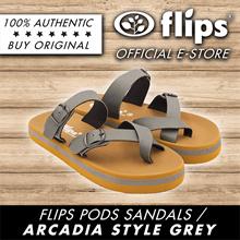 ★NEW★[Flips™]★GREY★ARCADIA Flips Pods Sandals-Unisex Sandals/Contoured Footbed/Comfort Sandal