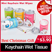 ★Christmas gifts★Pure RO Water Wet Wipes Tissue★Mini Bottle wet tissue/Key chain wet tissue