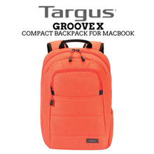 TARGUS Fiesta Orange Groove X Compact Backpack for Mac / 15in / Wear and Water Resistant Base