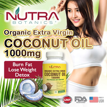Nutra Botanics Organic Extra Virgin Coconut Oil 1000mg Softgel 🔥 Burn Belly Fat 🔥  Lose Weight