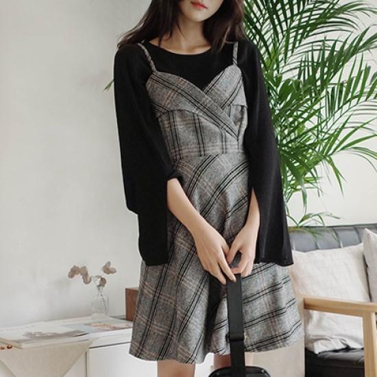 ミミ・アンド・ディディzamin ops5179 綿ワンピース/ 韓国ファッション