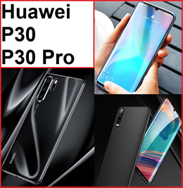 ★ Huawei P30 / P30 Pro Phone Case Casing Cover / Full Coverage Tempered Glass Screen Protector