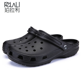 42ede4150d9 POLALI 2018 Men Sandals Summer Slippers Shoes Croc fashion beach Sandals  Casual Flat Slip On Flip