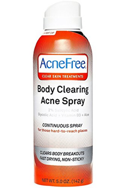 AcneFree Body Clearing Acne Treatment Spray for Body Acne and Back Acne, Treatment with Salicylic Ac