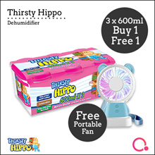 [RB]【Buy 1 FREE 1】Thirsty Hippo Dehumidifier 600ml x 3  Stocks from Singapore
