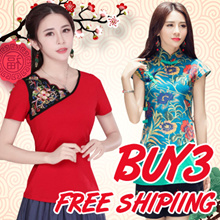 【Buy 3 free shipping】2018 NEW Ethic embroidery dress top pants CheongSam / Qipao / Traditional Ethni