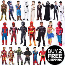 【Buy 2 Get Free Shipping】Halloween costumes toy Superheros Kids Costume  /party/ Avengers Star Wars