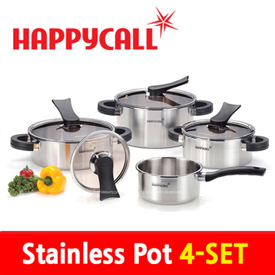 Qoo10 happycall 4 pot set kitchen dining for Qoo10 kitchen set