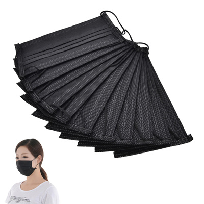 black non woven disposable face mask
