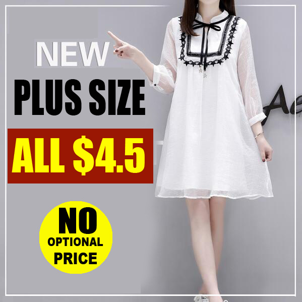 Buy 3 Free Shiiping/ ALL $4.5 / ! 2018 NEW PLUS SIZE FASHION LADY DRESS BLOUSE Deals for only S$29.9 instead of S$0