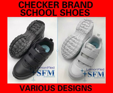 [SG LOCAL]SCHOOL SHOES CHECKER BRAND ALL WHITE ALL BLACK SHOES SNEAKERS
