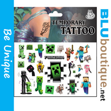 Minecraft Stickers Tattoo Creeper Birthday Parties