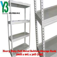 Heavy Duty Full Metal Boltless Storage Rack ✯180H x 90L x 30D (CM)✯BTO✯Warehouse✯Easy to Install✯