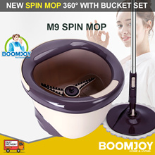 [▼-64%] BOOMJOY M9 Spin Mop New Magic Spin Flat Mop 360 and Bucket Set