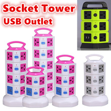 Vertical type power socket/power tower/Extension USB outlet/USB Charger/universal ports for all Plug