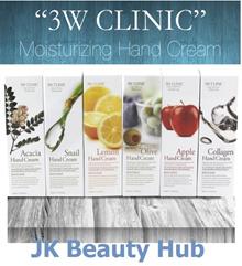 ★ 3W Clinic ★ Snail / Acacia / Lemon / Olive / Collagen / Apple Handcream  Moisturizing 100ml.