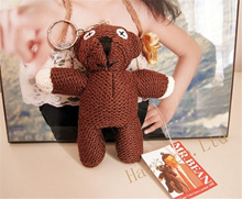 Mr.Bean Teddy Bear Plush Stuffed Doll Toy Cute Keychain Gift 4quot  (Color: Brown)
