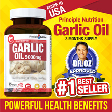 PrincipleNutrition Garlic Oil 5000mg 100 Capsules | Supports Heart and Immunity *Made in USA