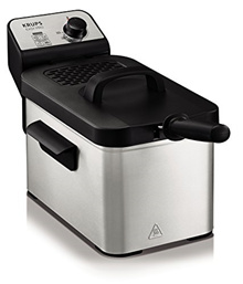 Krups KJ33 Easy Pro 2.5 L Deep-Fryer with Snack Accessory with Food Presets and Timer, Stainless Ste