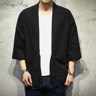 ee1086e35a9 Traditional japanese mens clothing mens yukata japan kimono men black  kimono japanese clothing CC141