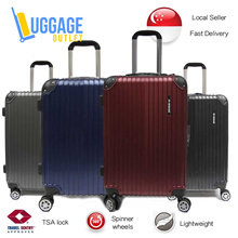 ★Anti-theft zipper upgrade★Hardcase 8 Wheel Spinner ABS Expandable Luggage with TSA lock