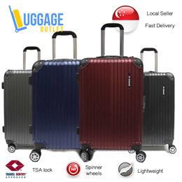 ★Anti-theft zipper upgrade★Hardcase 8 Wheel Spinner ABS Expandable Luggage with TSA lock