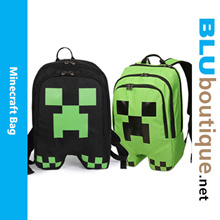 Minecraft creeper school bag minecraft backpack minecraft haversack