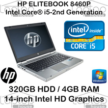 [Refurbished] HP EliteBook 8460p / Intel Core i5 2nd Gen/ 4GB RAM / 320GB HDD / Windows 7 Pro