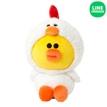 [LINE FRIENDS] CUDDLE DOLL 25CM_CHICKEN SALLY_JUNGLE BROWN